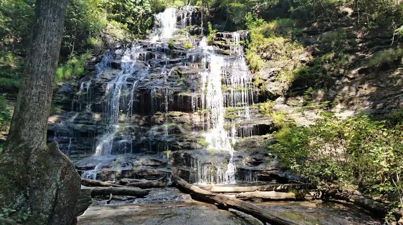 A small waterfall on Cove Creek near Big Bradley Falls in ... |Small Cove Waterfall